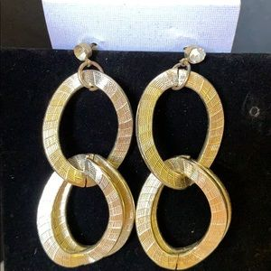 Chain link Gold- Silver Tone Earrings
